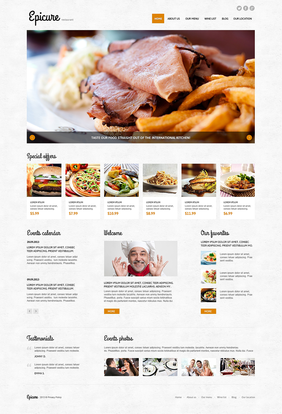 cafe and restaurant joomla template 45817