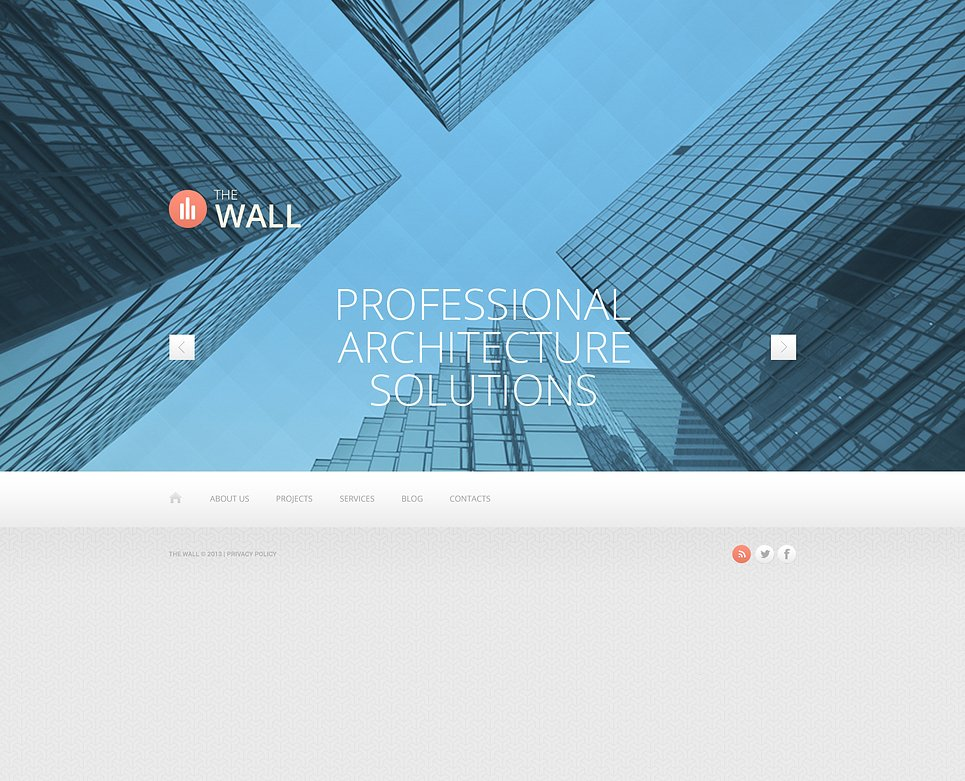 Construction Company Website Template 45849
