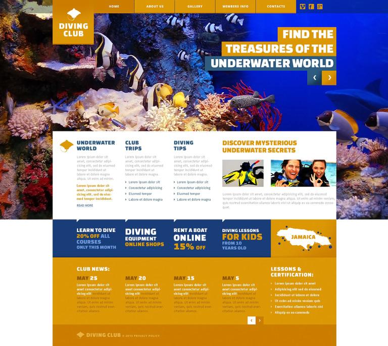 Diving Responsive Website Template New Screenshots BIG