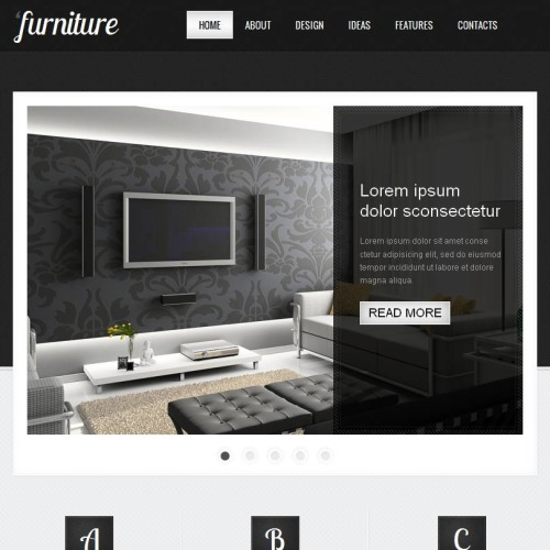 Furniture - Facebook HTML CMS Template
