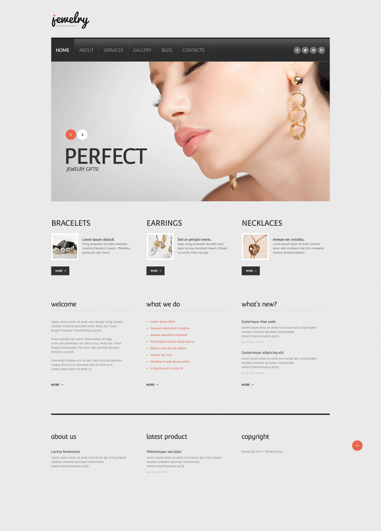 Jewelry Responsive WordPress Theme New Screenshots BIG