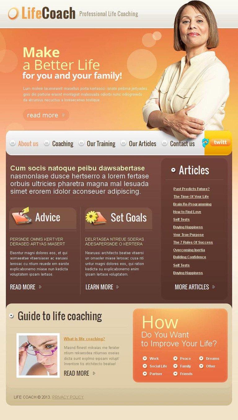 Life Coach Facebook HTML CMS Template New Screenshots BIG