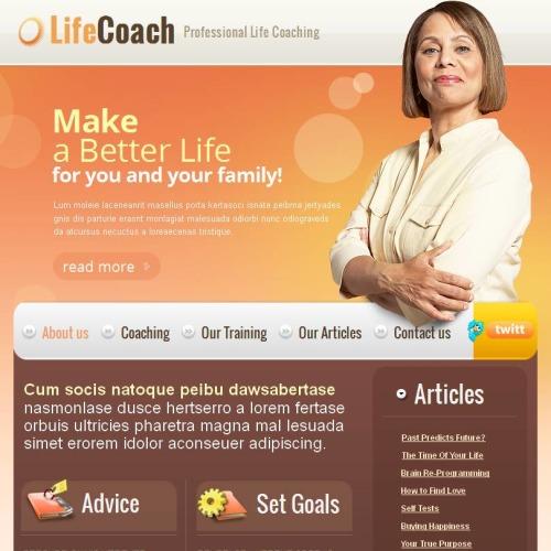 Life Coach - Facebook HTML CMS Template