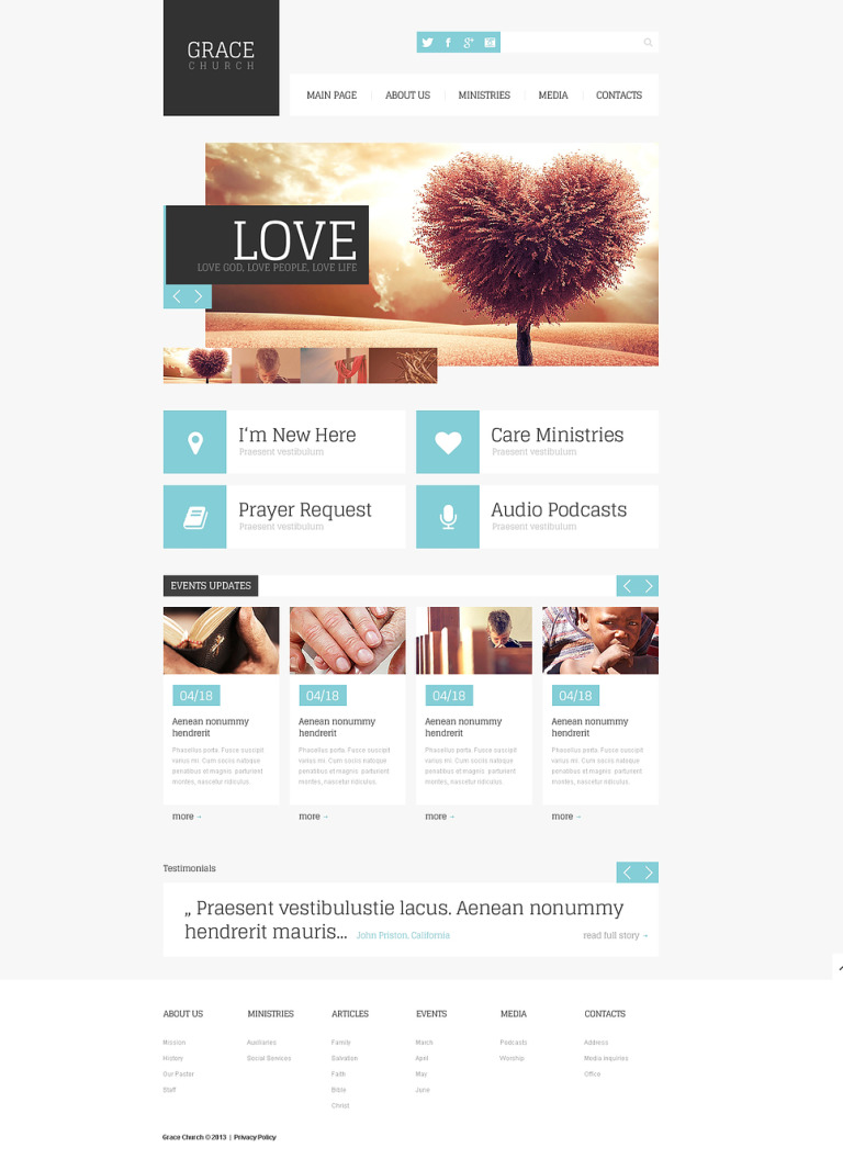 Religious Responsive Website Template New Screenshots BIG