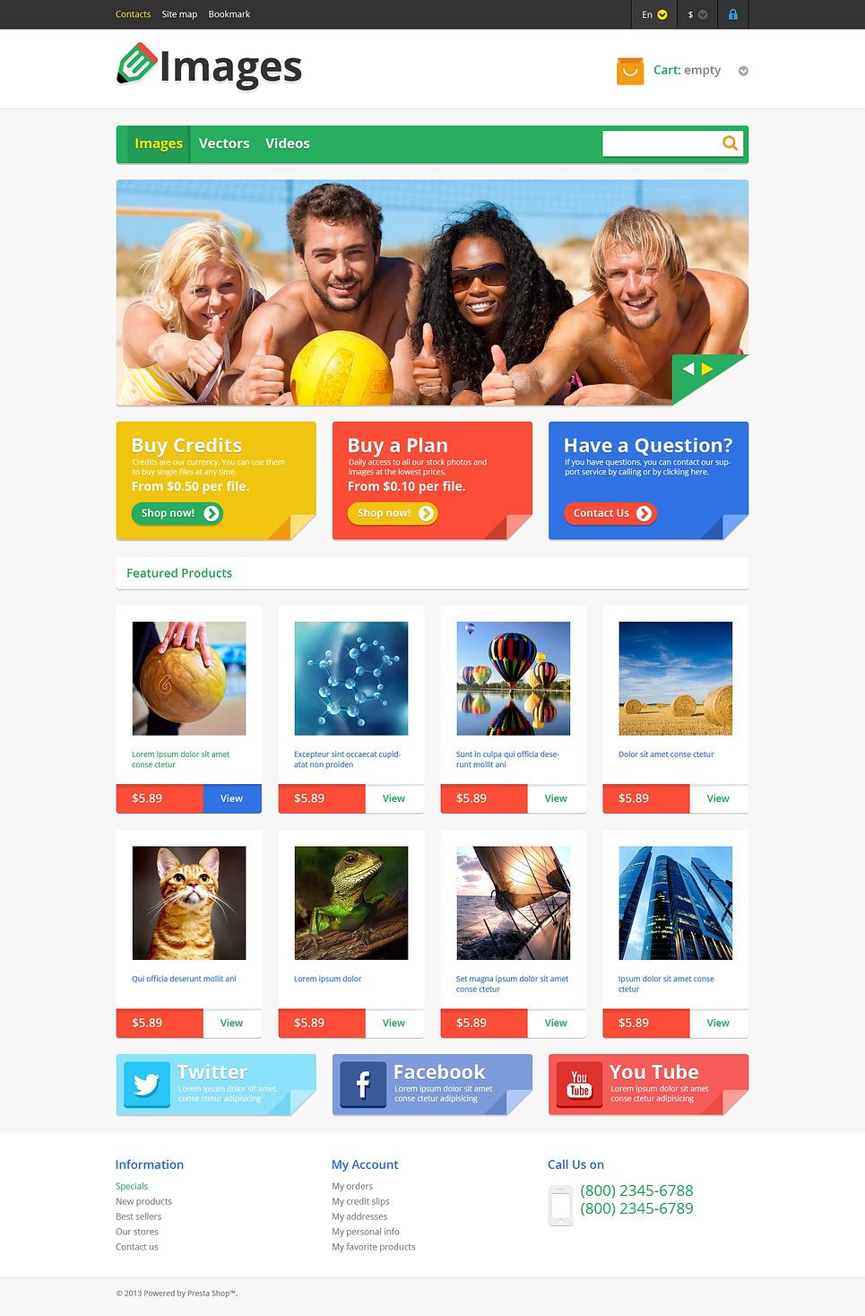 Responsive Images Store PrestaShop Theme New Screenshots BIG
