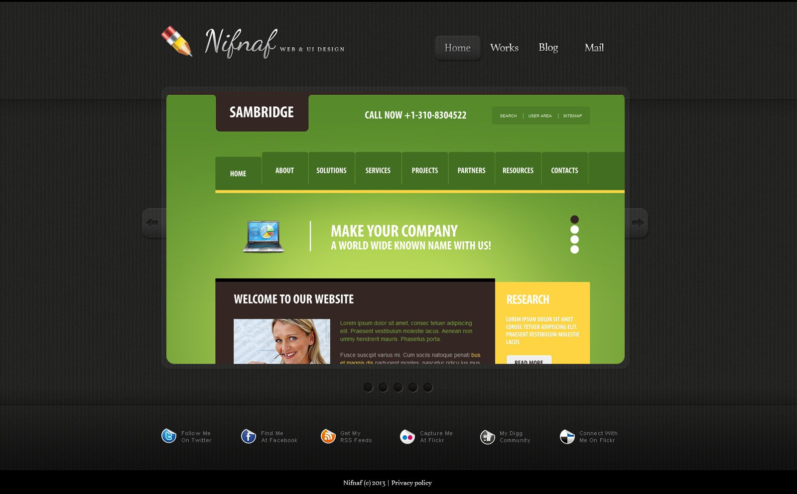 simple web design portfolio joomla template 45871
