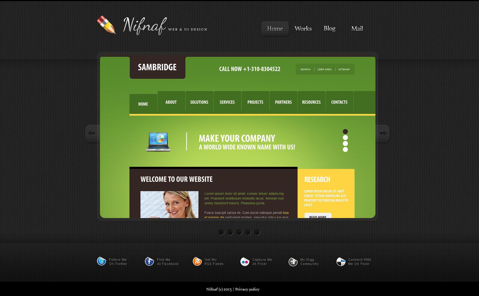 Simple Web Design Portfolio №45871 - скриншот