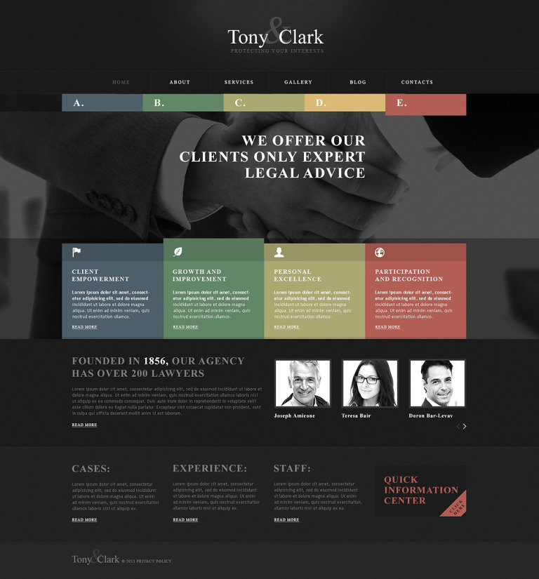 Solid Law Firm WordPress Theme New Screenshots BIG