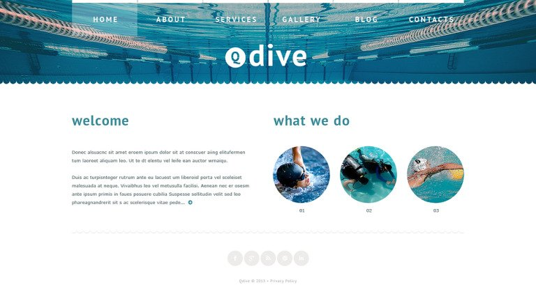 Swimming Website Template New Screenshots BIG