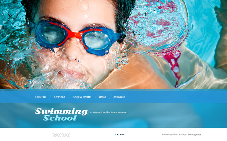 Swimming Website Template New Screenshots BIG