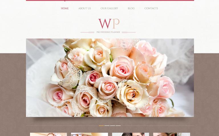 Tema de WordPress #45883 para Sitio de Organización de bodas