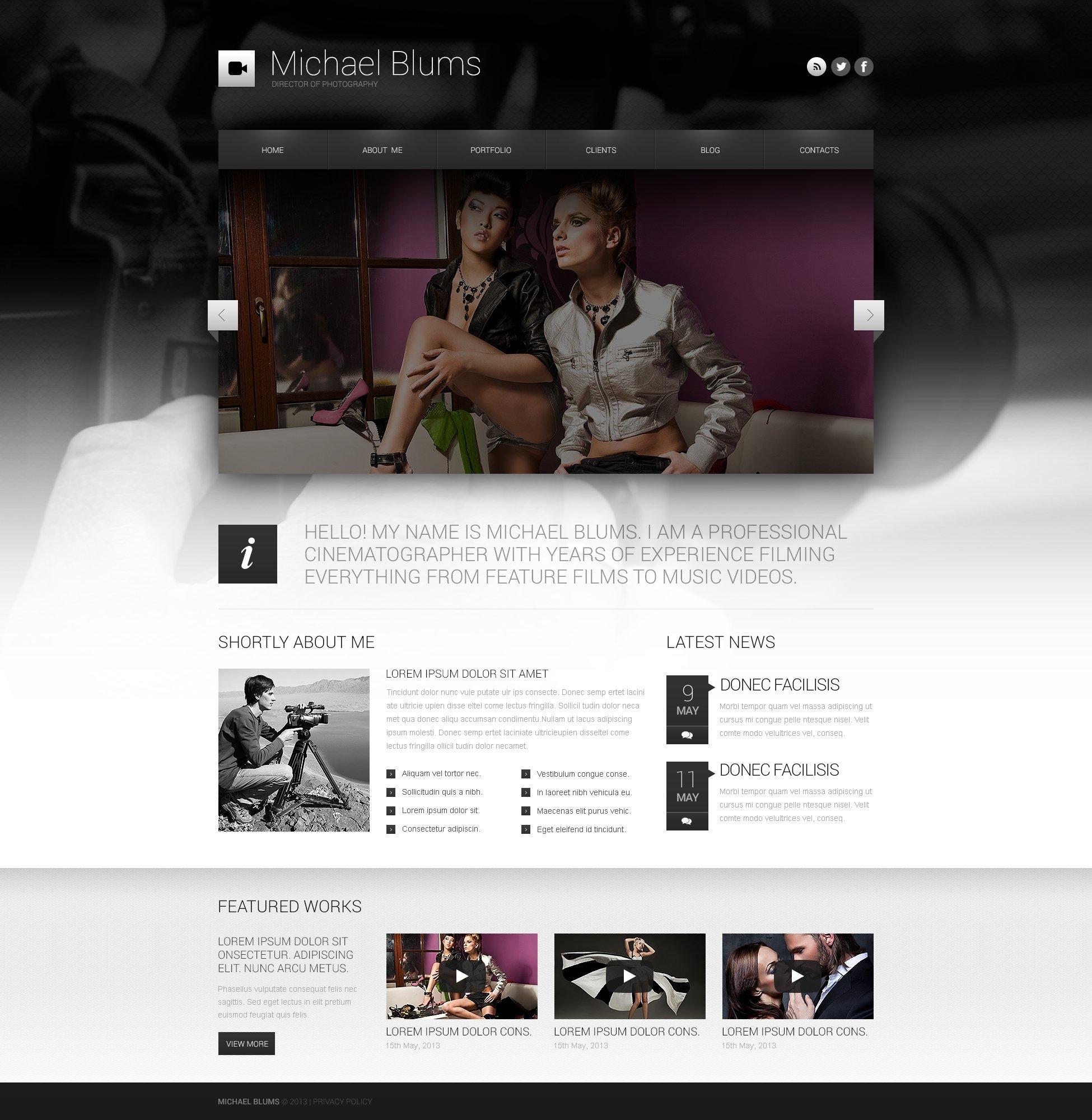 "Tema De WordPress ""Photographer's Works"" #45827 - captura de pantalla"