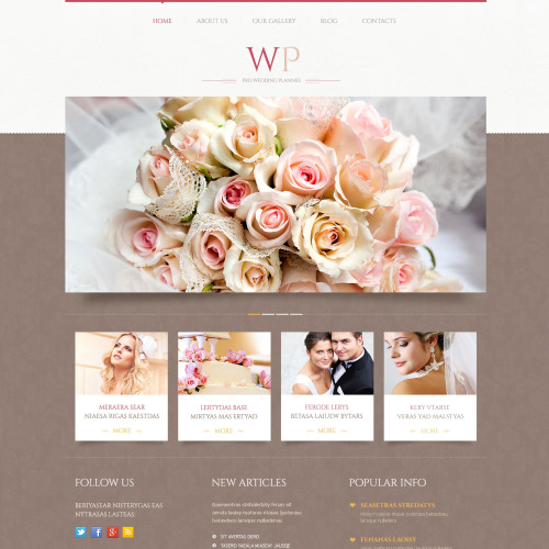 WP Pro Wedding Planner - WordPress Template based on Bootstrap