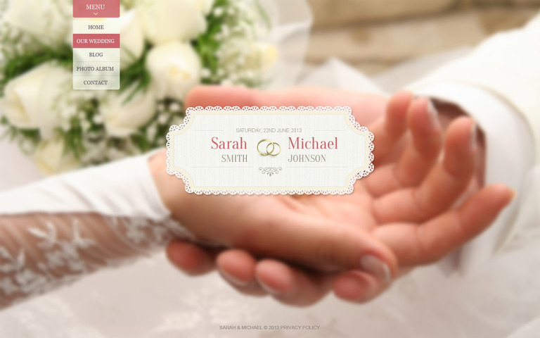 Wedding Album Website Template New Screenshots BIG