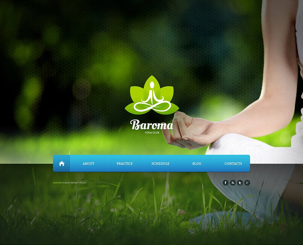 Yoga Website Template 45860