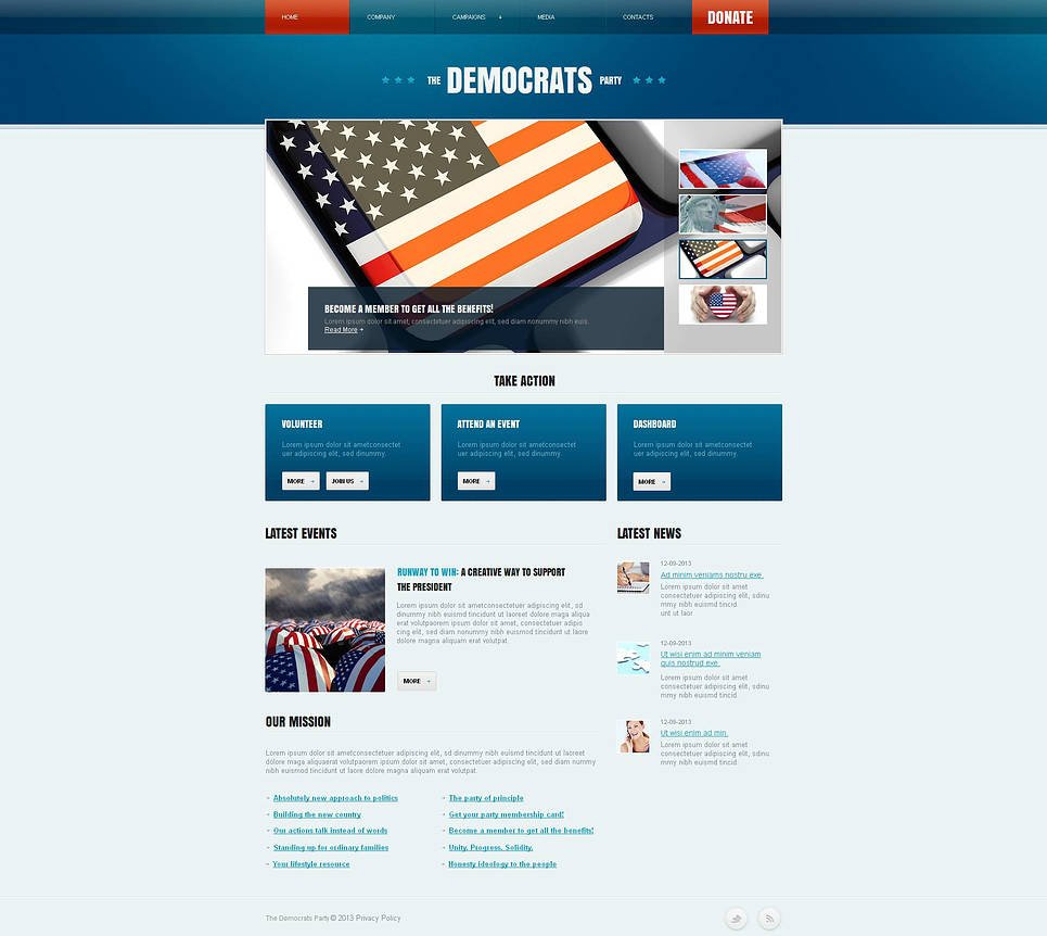 Political Party Website Template with a Content Slider - image