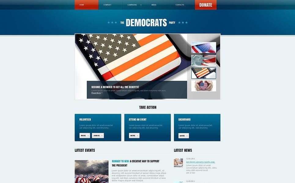 Luxusní Moto CMS HTML šablona na téma Politická strana New Screenshots BIG