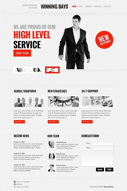ADOBE Photoshop Template 45904 Home Page Screenshot