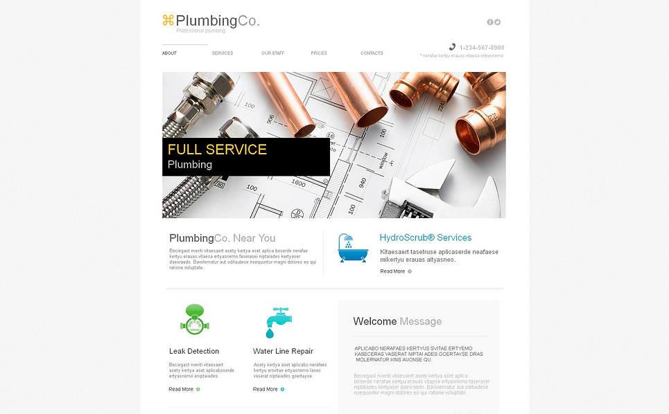Szablon Moto CMS HTML #45905 na temat: instalacje wodociągowe New Screenshots BIG