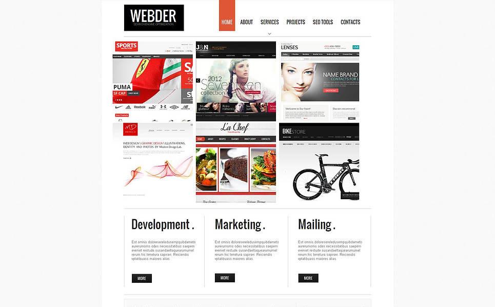 Modèle Moto CMS HTML  pour site Web de référencement New Screenshots BIG