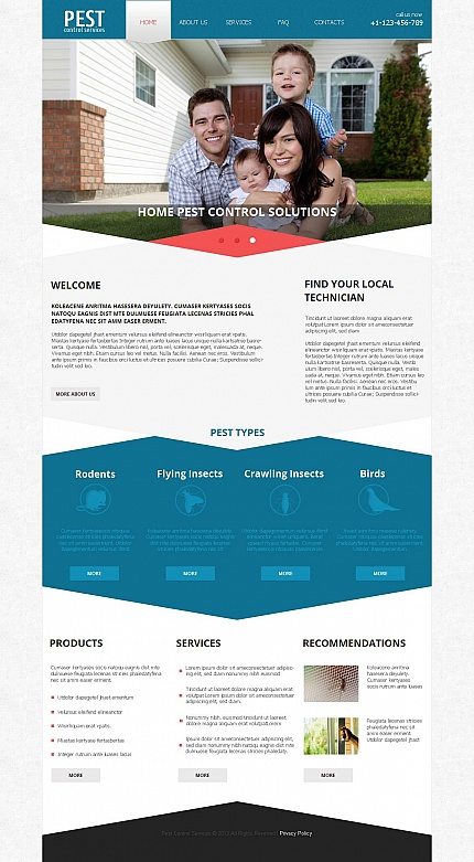 ADOBE Photoshop Template 45908 Home Page Screenshot