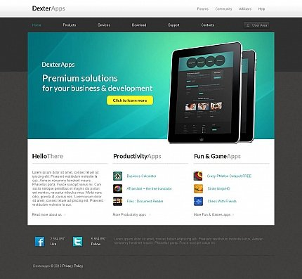 ADOBE Photoshop Template 45909 Home Page Screenshot
