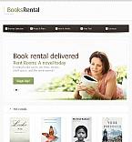 Books Facebook HTML CMS  Template 45919