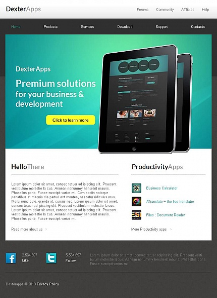 ADOBE Photoshop Template 45927 Home Page Screenshot