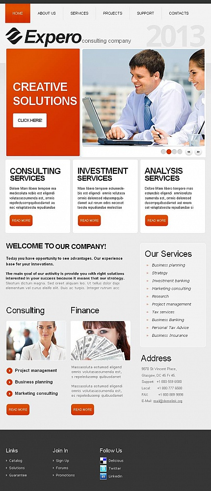 ADOBE Photoshop Template 45930 Home Page Screenshot