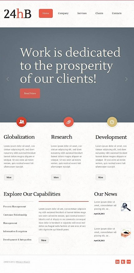 ADOBE Photoshop Template 45935 Home Page Screenshot