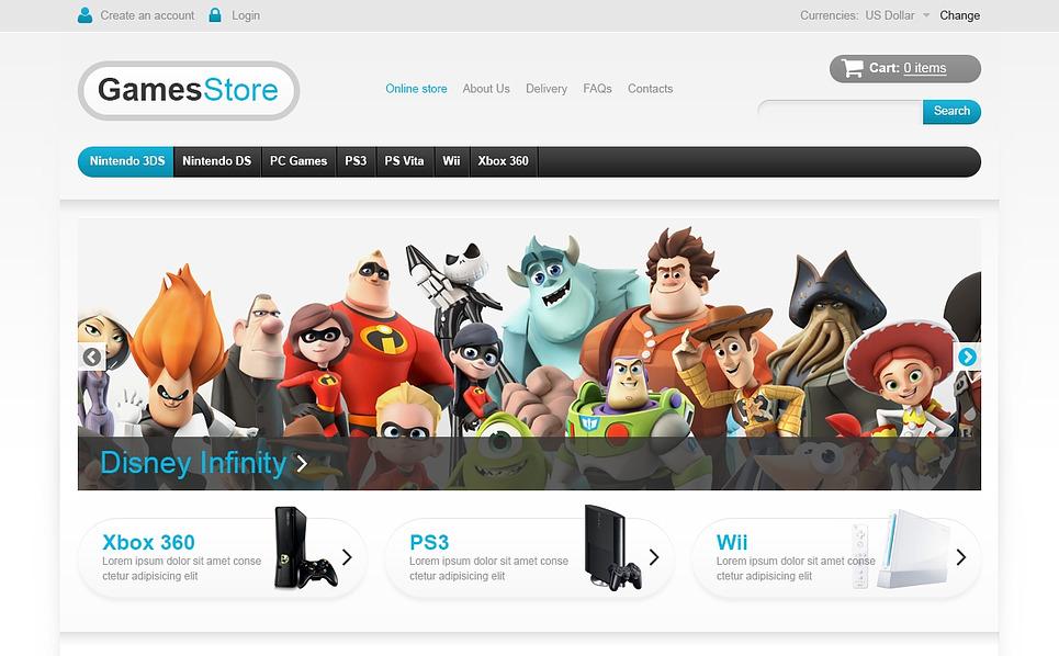 Szablon VirtueMart #45938 na temat: gry New Screenshots BIG