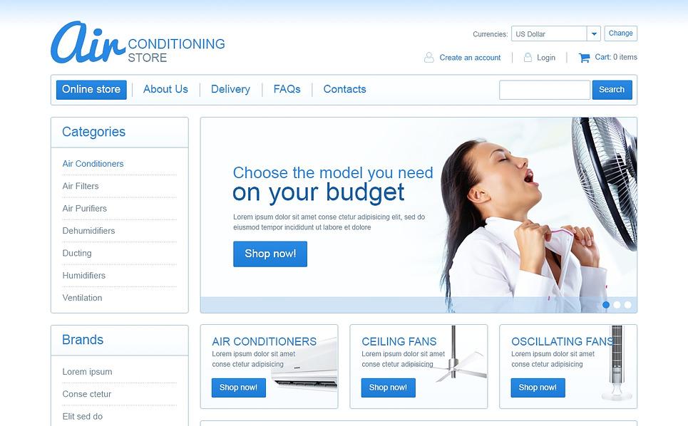 VirtueMart Template over Airconditioning  New Screenshots BIG