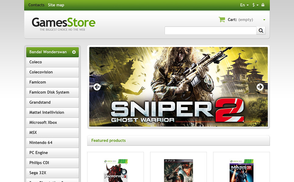 Responsives PrestaShop Theme für Spiele  New Screenshots BIG