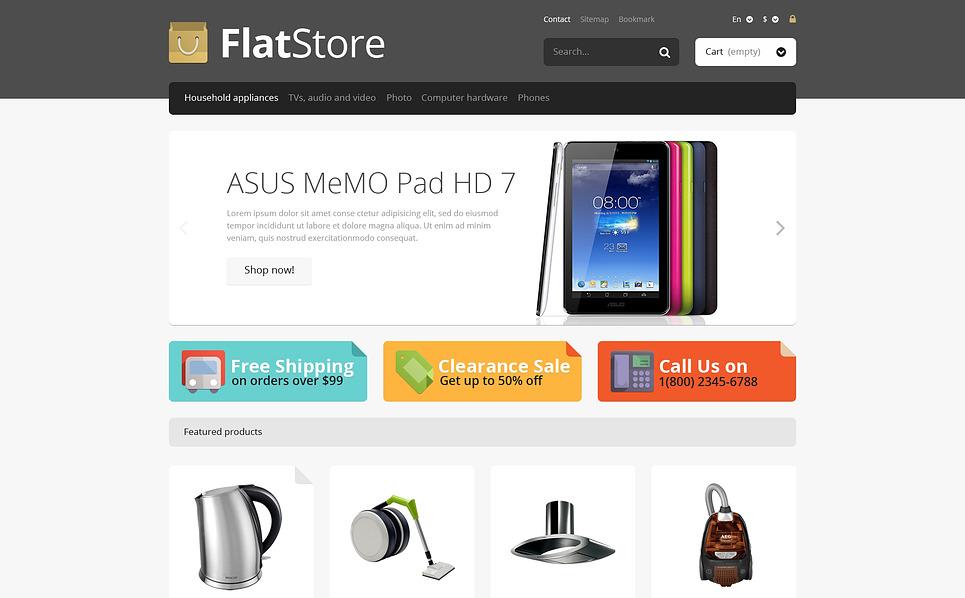 Responsywny szablon PrestaShop #45948 na temat: sklep elektroniczny New Screenshots BIG