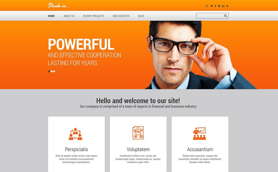 Tema Siti Web Responsive #45963 per Un Sito di Consulente Finanziario New Screenshots BIG