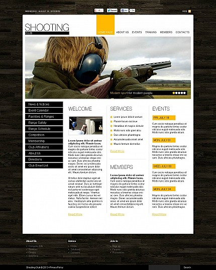 ADOBE Photoshop Template 45965 Home Page Screenshot