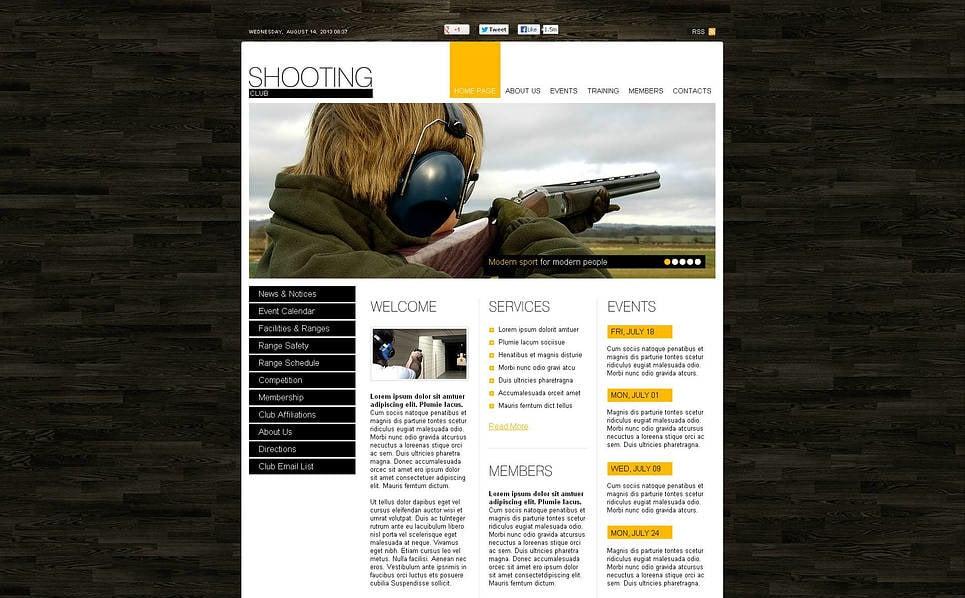 Plantilla Flash CMS #45965 para Sitio de Tiro New Screenshots BIG