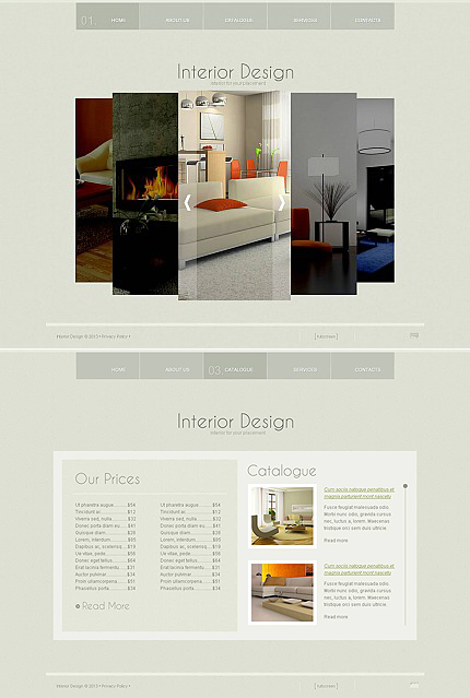 ADOBE Photoshop Template 45967 Home Page Screenshot
