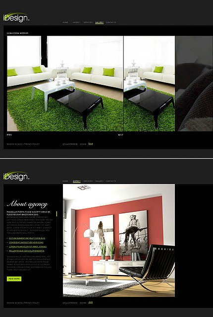 ADOBE Photoshop Template 45968 Home Page Screenshot