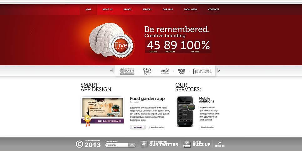 Luxusní Flash CMS šablona na téma Designové studio New Screenshots BIG