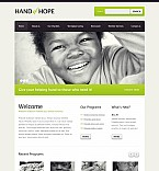 Charity Flash CMS  Template 45973