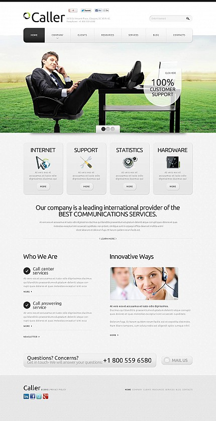 ADOBE Photoshop Template 45975 Home Page Screenshot