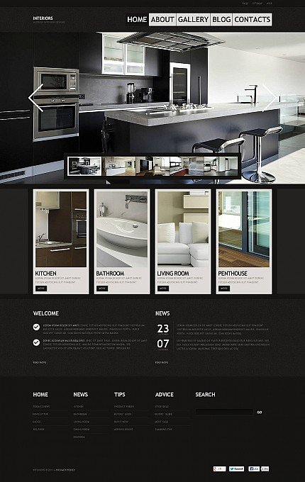 ADOBE Photoshop Template 45978 Home Page Screenshot