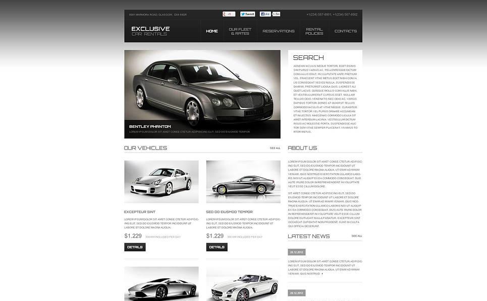 Flash CMS шаблоны №45979 на тему прокат авто New Screenshots BIG