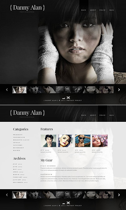 ADOBE Photoshop Template 45980 Home Page Screenshot