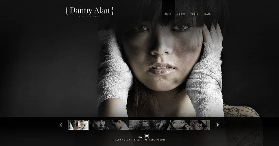 Plantilla Flash CMS #45980 para Sitio de Portafolio de fotógrafo New Screenshots BIG