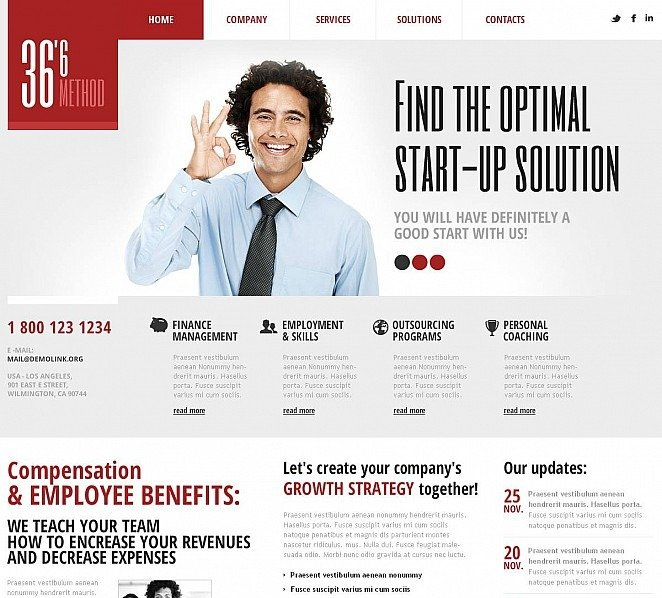 Premium Management Company Templates Flash Cms Şablon New Screenshots BIG