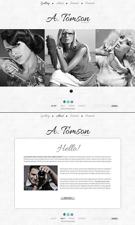 ADOBE Photoshop Template 45985 Home Page Screenshot