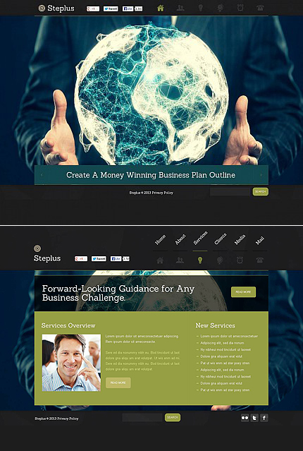 ADOBE Photoshop Template 45986 Home Page Screenshot