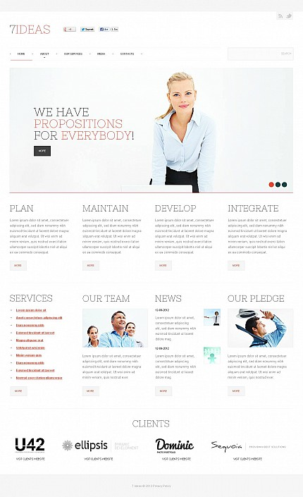 ADOBE Photoshop Template 45988 Home Page Screenshot